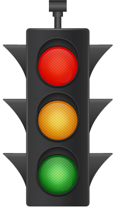 image of stop light, red light is turned on